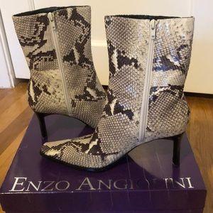 Enzo Angiolini snake skin boots